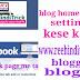 Blog home page setting kese kare