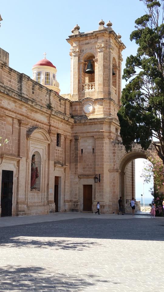 mehilla curch courtyard malta travel guide