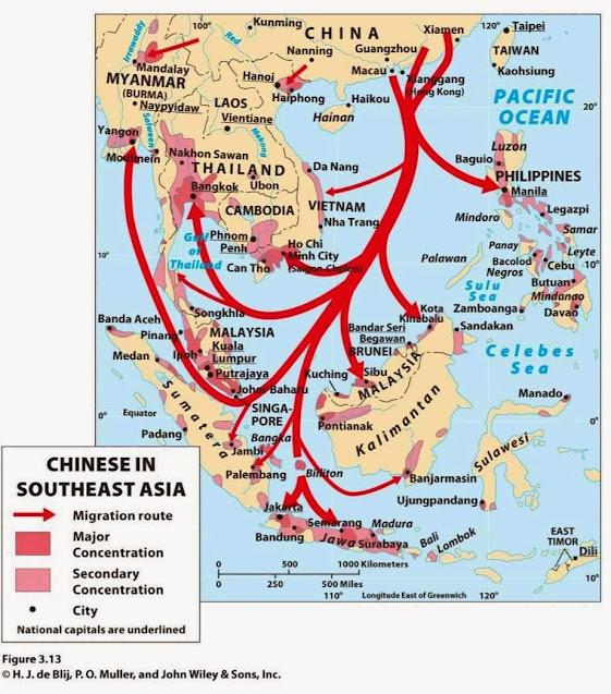 Atuais rotas de emigração chinesa no suleste asiático. E se amanhã vierem para a Amazônia para onde os brasilerios não podem ir?