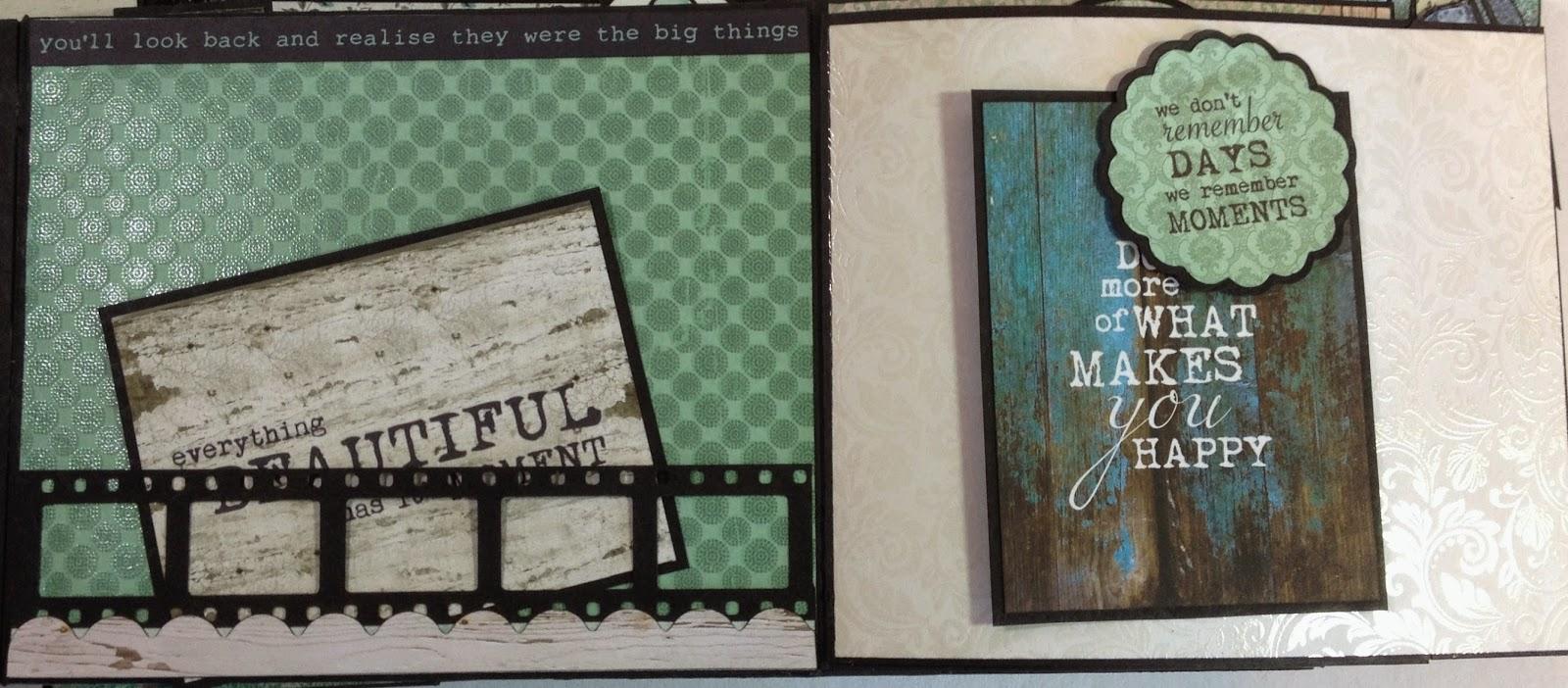 Blue Bay 9 X 6 Mini Album Part 2 Annes Papercreations