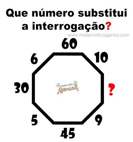 Desafio: Que número substitui a interrogação?