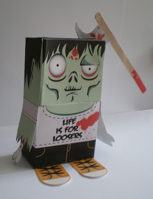 Zombie paper craft