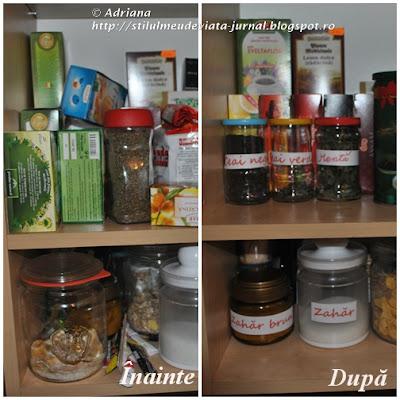 organizarea dulapului cu ceaiuri
