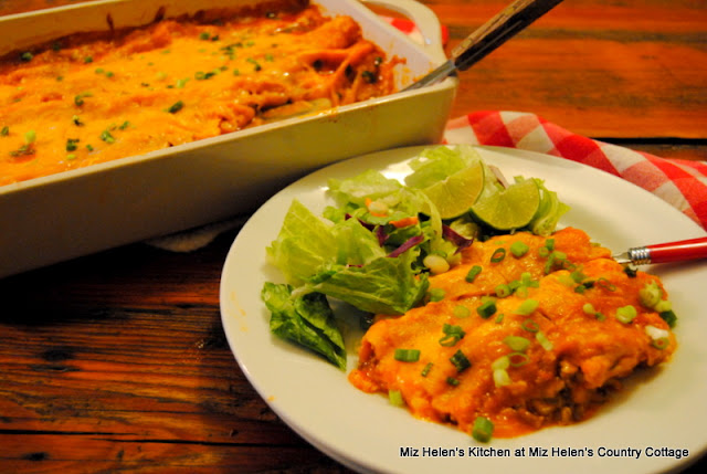 West Texas Enchiladas at Miz Helen's Country Cottage