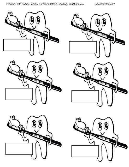 Classroom Freebies: Tooth Talk