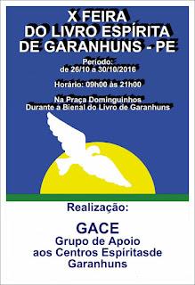 X FEIRA DO LIVRO ESPÍRITA DE GARANHUNS