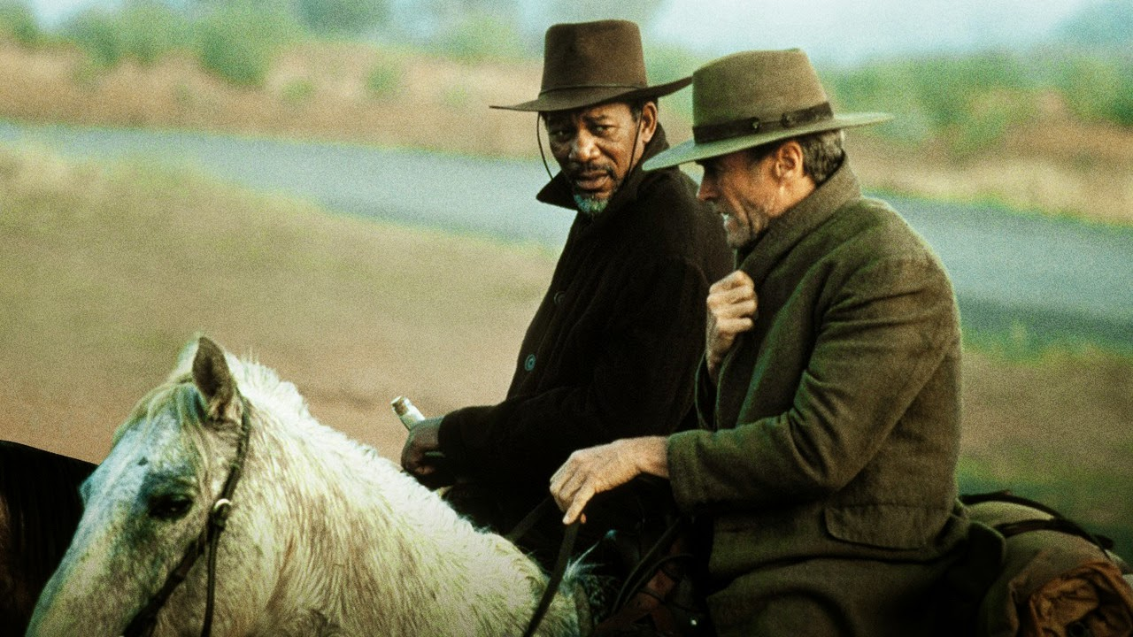 Clint Eastwood as Bill Munny, Morgan Freeman as Ned Logan, in Unforgiven, Directed by Clint Eastwood