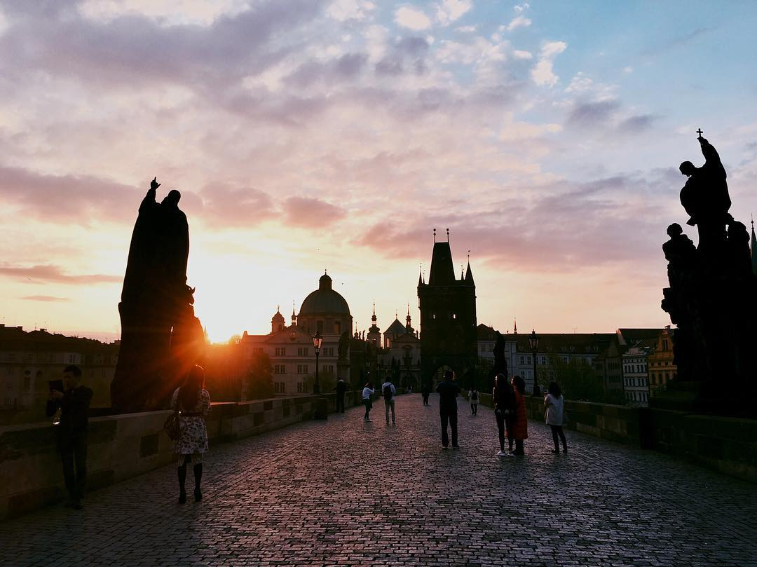 Charles Bridge at Sunrise, Prague