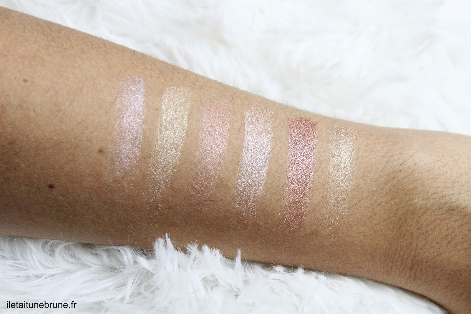 Swatches des 6 fards de la I-lust Diamonds In The Rough