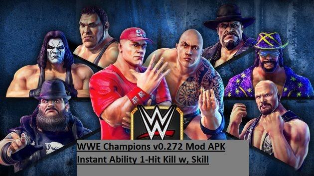 WWE Champions v0.272 Mod APK Instant Ability 1-Hit Kill w, Skill