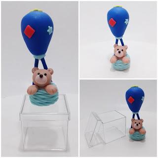 Bebê lembrancinha urso no balão