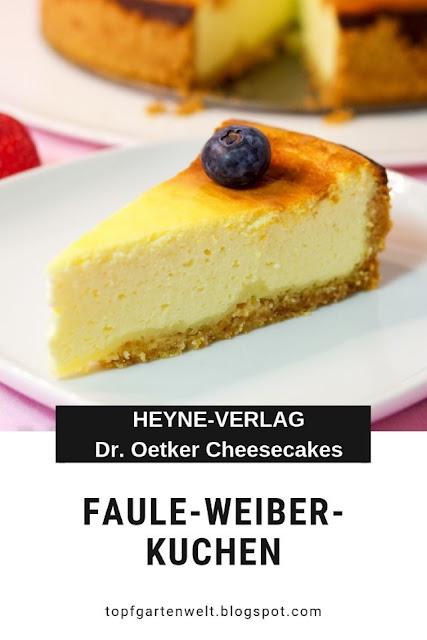 Rezept für Faule-Weiber-Kuchen mit Schmand | aus Dr. Oetker Cheesecakes und Käsekuchen | gebackene Topfentorte | Buchvorstellung #schmandkuchen #käsekuchen #topfentorte #fauleweiberkuchen #droetker