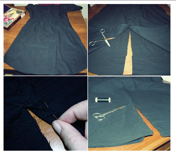 Convertir vestido largo a corto