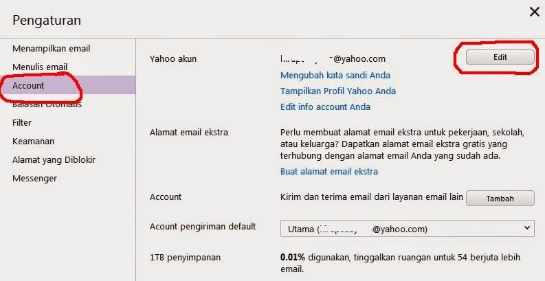 cara mengganti nama email yahoo dan