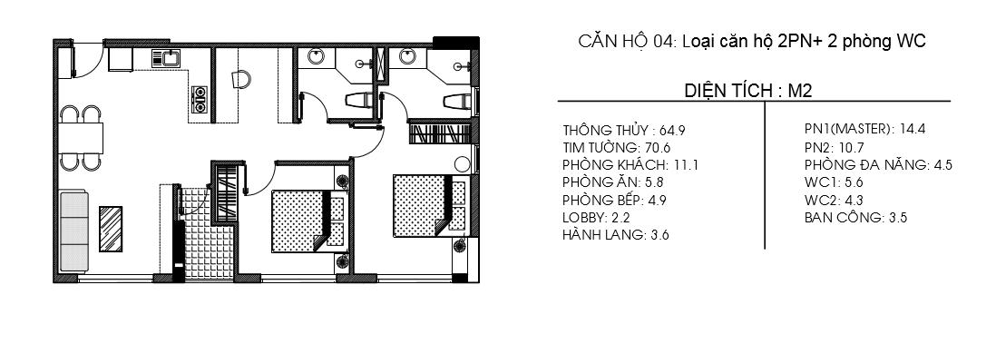 mặt bằng chi tiết căn hộ osimi gò vấp
