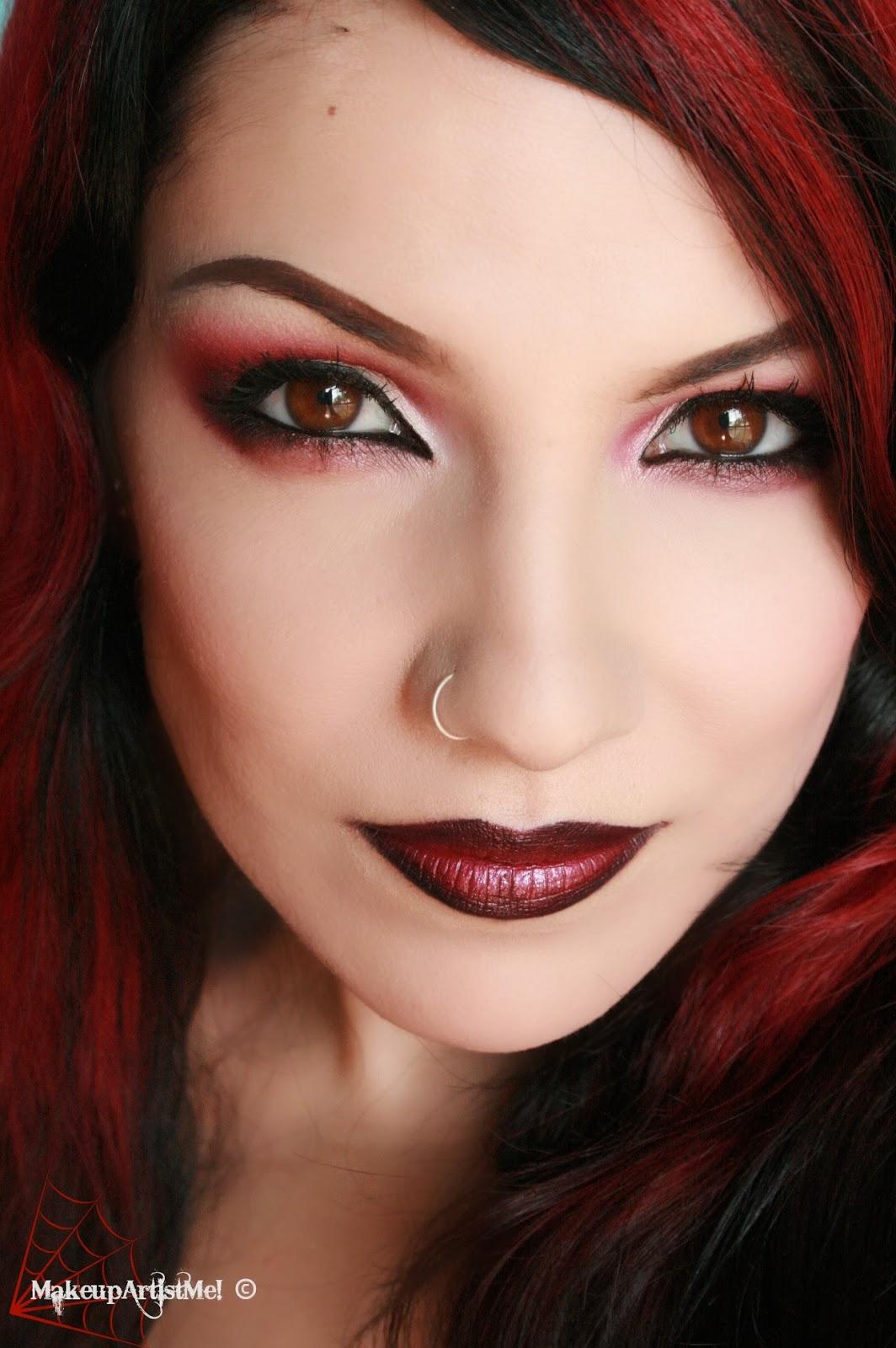 Eyeshadow Tutorial For Hooded Eyes: Make-up Artist Me!: Daring! Red Eyeshadow Makeup Tutorial