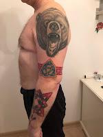 медведь тату рукав