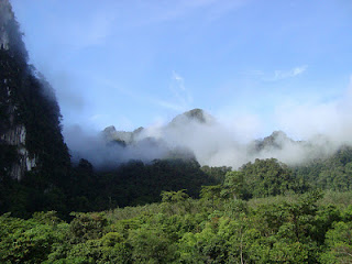 Look over Khao Sok from Cliff & River Jungle Resort