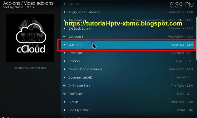 how to add ccloud tv to kodi 2017
