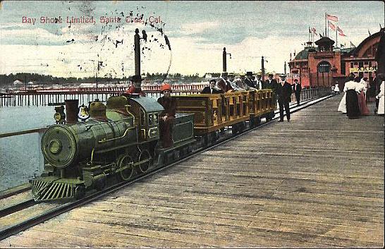 Color Postcard Of The Bay S Limited C 1910 After Demolition Curio Santa Cruz Public Libraries