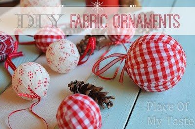 diy fabric ornaments
