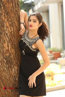 Actress Poojitha Pallavi Naidu Stills in Black Short Dress at Inkenti Nuvve Cheppu Movie Platinum Disc Function  0040.JPG