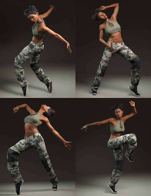 Capsces Hip Hop Poses and Expressions for Genesis 3 Female