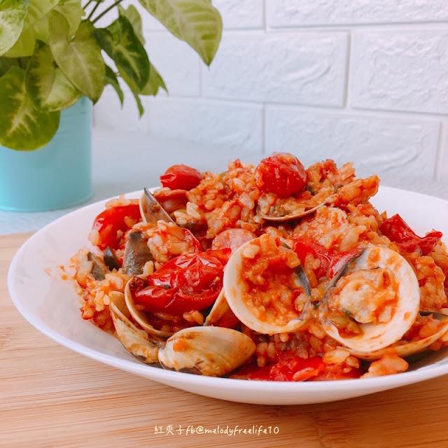 紅夾子興奮開鍋啦-超簡單義式海鮮蕃茄燉飯