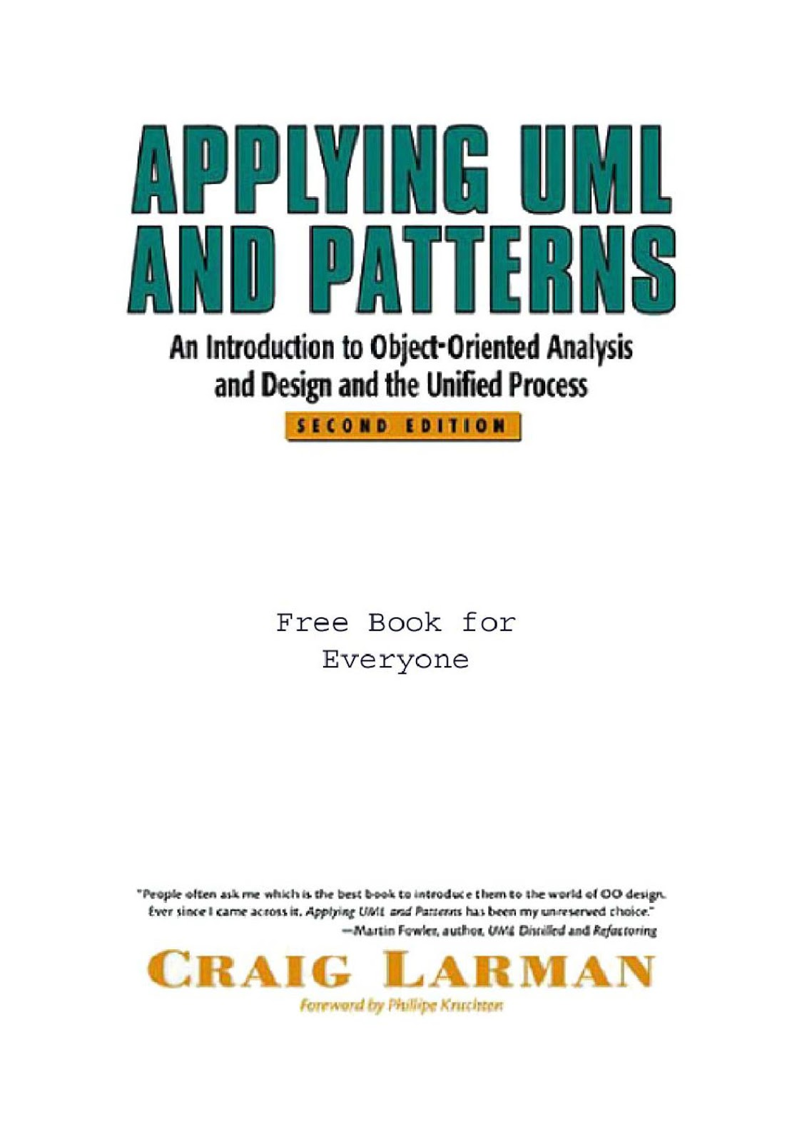 Craig Larman Applying Uml And Patterns Ebook