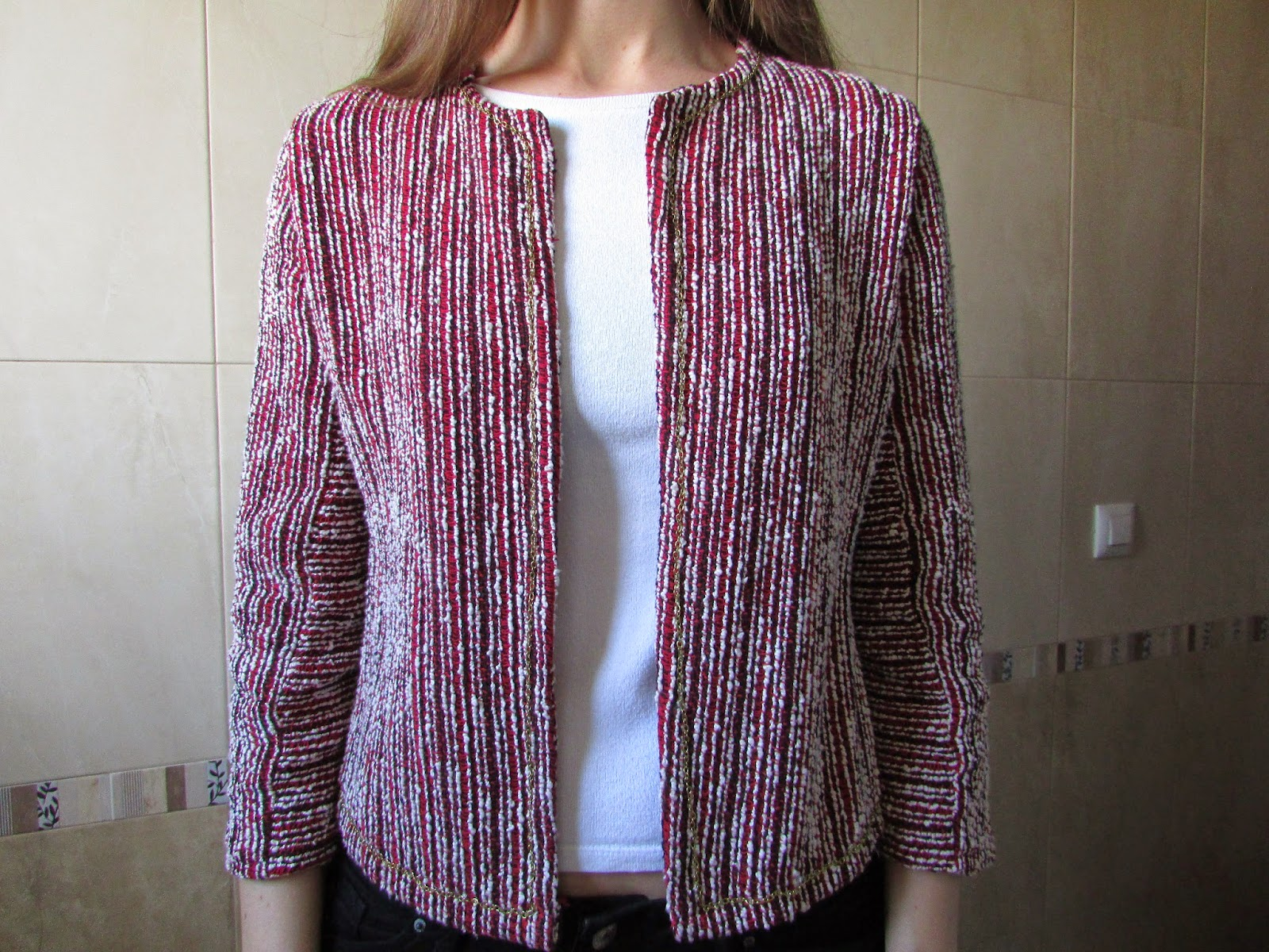 Chaqueta chanel DIY costura 2