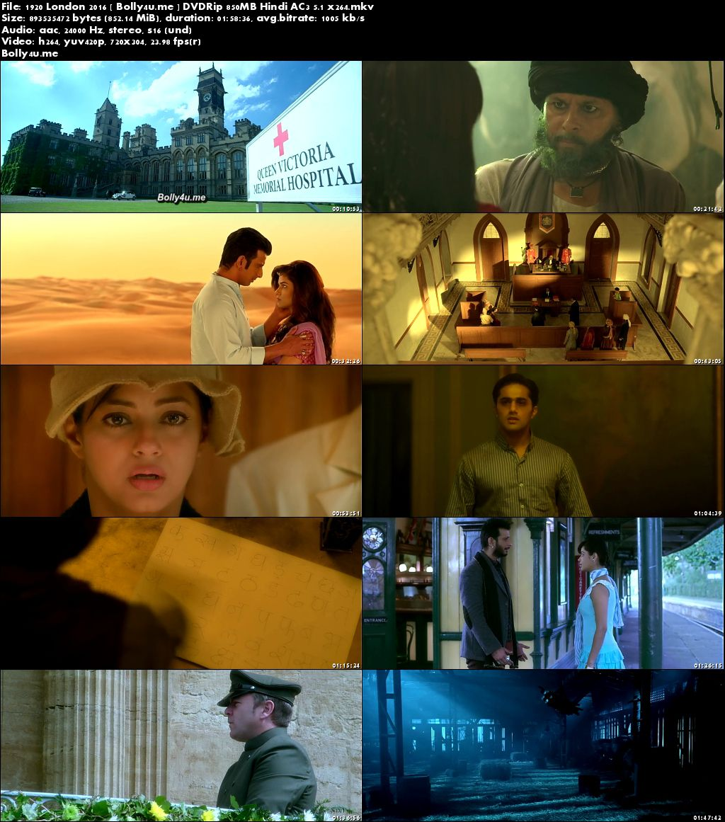 1920 London 2016 DVDRip 850MB Full Hindi Movie Download x264