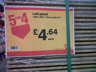 Five for four poster in B&Q