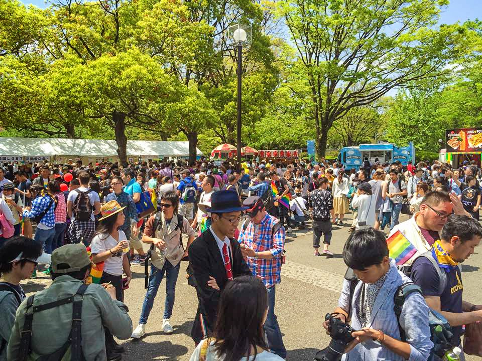 Tokyo Rainbow Pride event, 2015.