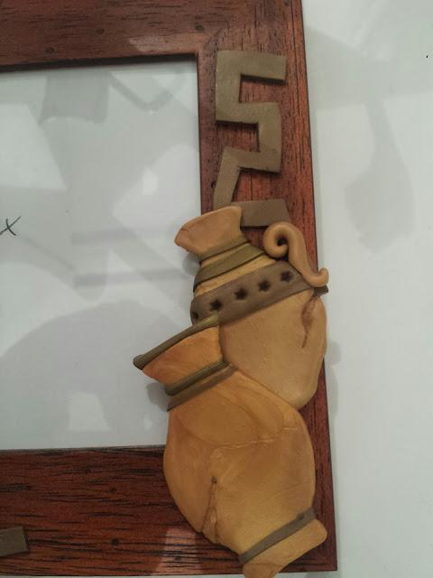 Dettagli Cornice personalizzata Grecia - dettaglio Vasi