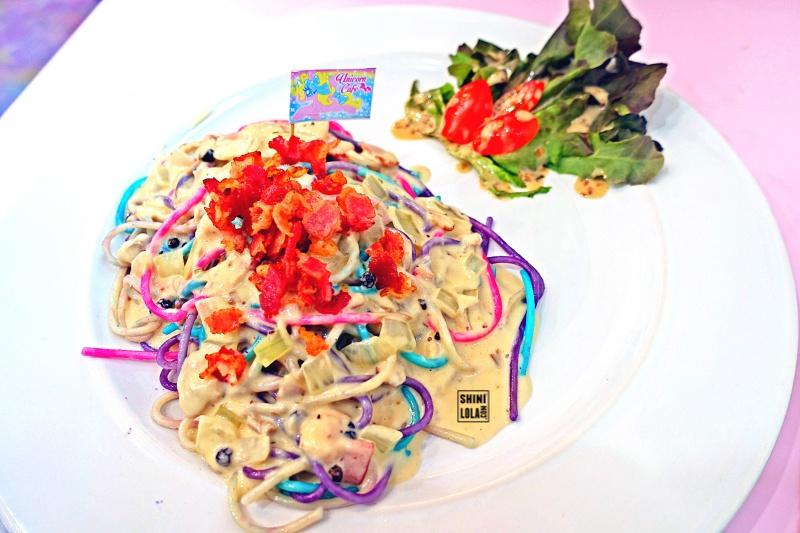 Rainbow Spaghetti Carbonara