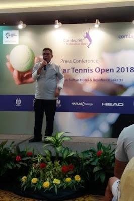 bapak rildo ananda anwar selaku ketua umum pengurus pusat persatuan tenis seluruh indonesia nurul sufitri