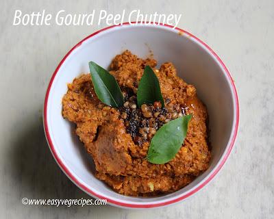 Bottle Gourd Peel Chutney