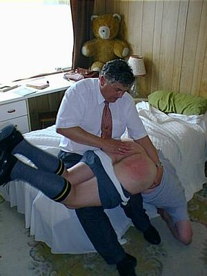 Spanked in short trousers