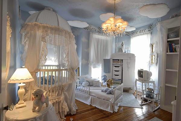 cuarto celeste para bebé