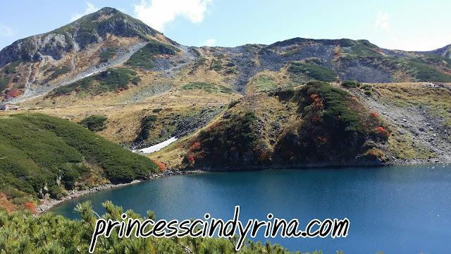 lake and hills