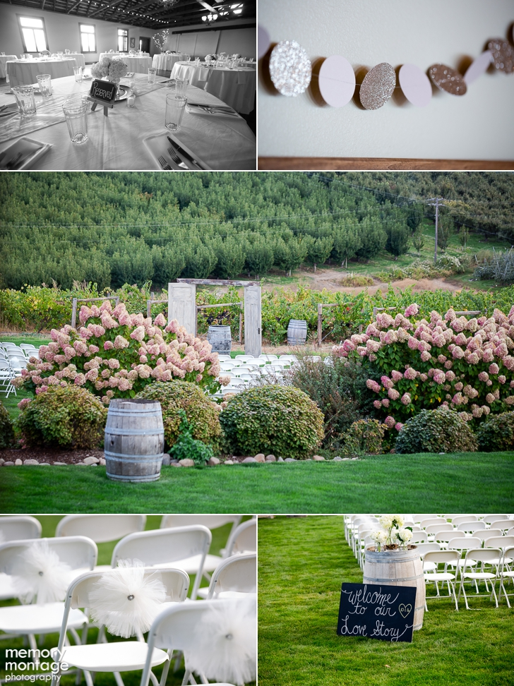 Marissa Pickett Tyler Pickett wedding Fontaine Estates Winery Naches WA