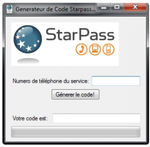 un generateur de code starpass