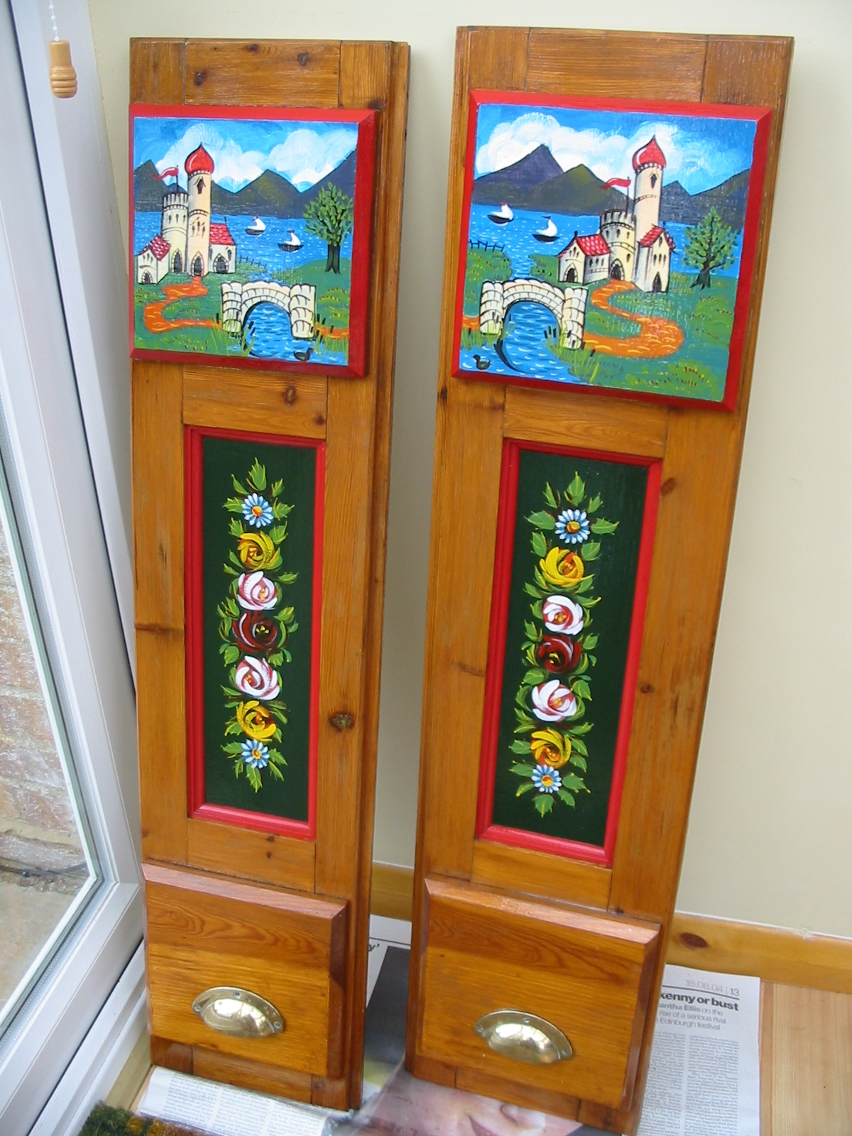 Albertu0027s Rear Cabin Door Decoration & Narrow Boat Albert: New Blog Layout and Theme
