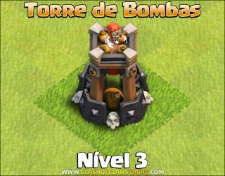 Nova Defesa: Torre de Bombas Nível 3