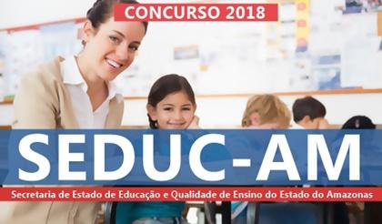 Edital Concurso SEDUC-AM 2018