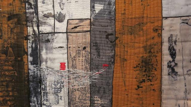 European Quilt Triennial - Lichter der Stadt by Regina Birk - Detail