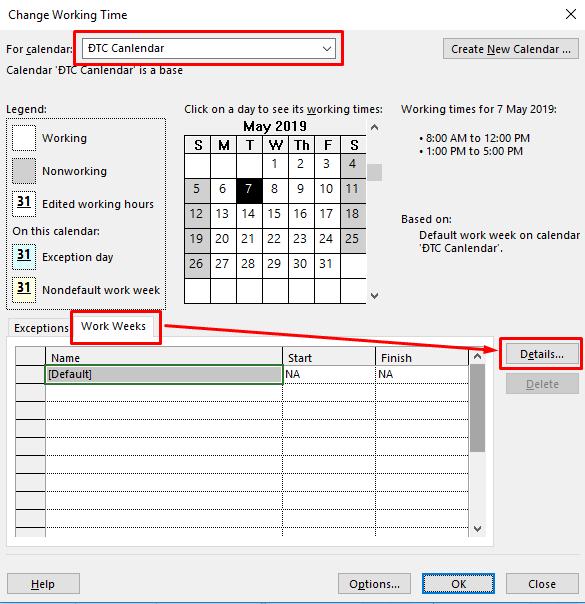 Tạo lịch làm việc trong Microsoft Project ~ ĐÀM TÀI CAP