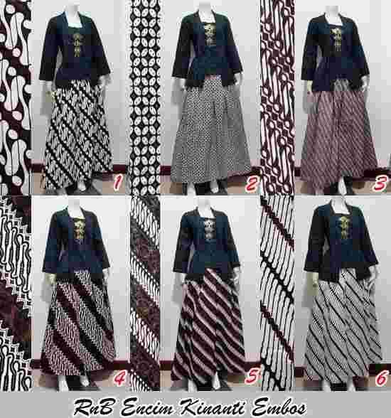 Model Pakaian Batik Setelan Rok Panjang Untuk Pesta