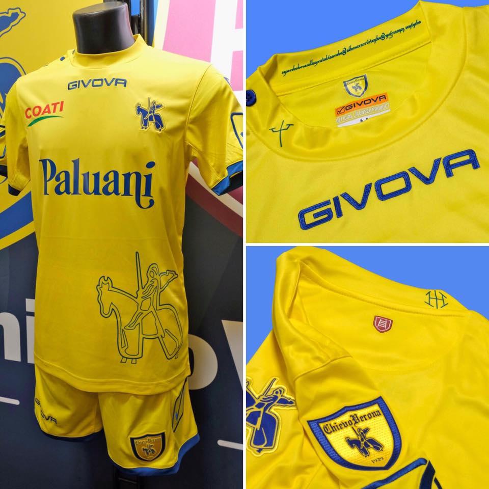 Chievo verona 18 19 home away third kits revealed for Uniform verona