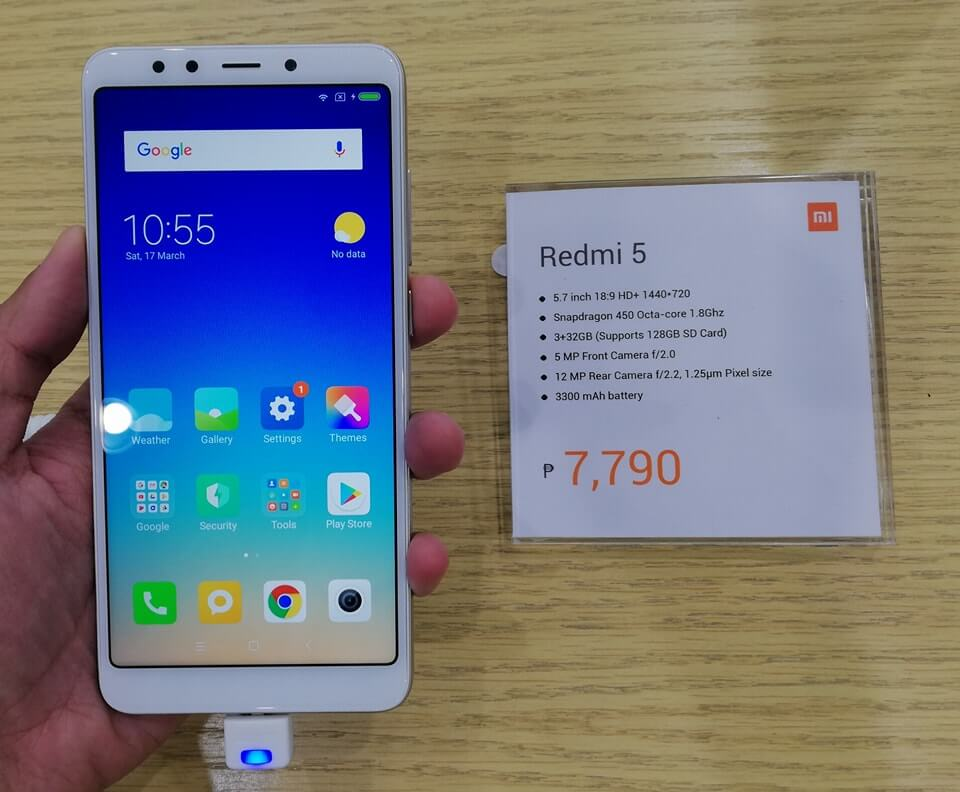 Xiaomi Redmi 5 Lands in PH for only Php7,790